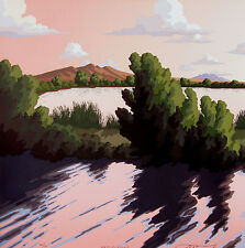 "Doug West, ""Reflections"", Limited ed serigraph - handpulled, Bosque del Apache"