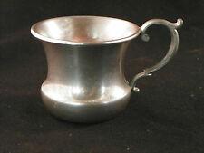 Vintage Lenox Pewter Baby Mug Used 2 1/2 inch