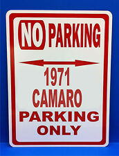 "1971 Camaro Chevrolet Novelty  No Parking Street Sign 9""X12"" Aluminum"