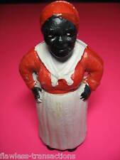 AUNT JEMIMA Retro Cast Iron Black Americana Vintage Still Piggy Coin Bank Toy