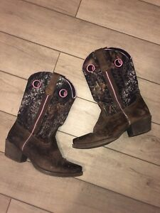 John Deere Women's Camo And Pink Western Cowboy/cowgirl Style Boots • Size 6.5