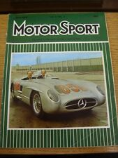 Jun-1975 Motor Racing Magazine: Motor Sport - Cover Image... Stirling Moss Seate