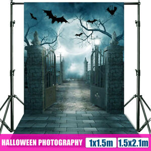 5x7ft Halloween Backdrop Black Bat Photography Vinyl Background Photo Prop Deco