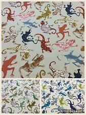 Edinburgh Weavers GEKKO (Gecko/Lizards) Cotton Fabric,Upholstery/Curtains/Crafts