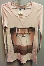$81 New Rebel Yell Brand Fitted Solid Gray W Basketball Graphic Thermal Size S
