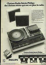 Publicité advertising 1975 Chaine radio Stéréo Philips