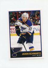 17/18 PANINI NHL STICKER #398 JADEN SCHWARTZ BLUES *40709