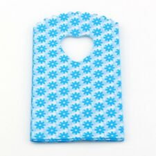 Jewelry Pouches.100pcs blue Small  Flower Plastic Bags Jewelry 9X15cm Gift Bag