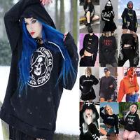 Women Gothic Punk Style Hoodie Hooded Tops Sweatshirt Short Coat Sexy Street Top