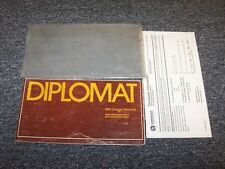 1983 Dodge Diplomat Owner Owner's Operator Manual Set Salon Medallion 3.7L 5.2L