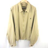 Marlboro Classics Mens Large Harrington Khaki Bomber Jacket