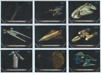 2018 Topps Star Wars Galactic Files Complete 10 Card Vehicles Insert Set W1-W10
