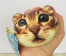 SQUISHY Tabby Cat Head Toy Squeeze Stress Pressure Relief Gift Fun USA Seller