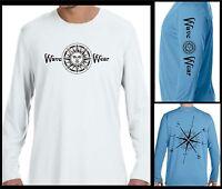 Microfiber T Shirt Long Sleeve UPF 50+ boating fishing sailing beach salt life