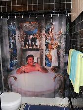 Liberace Bathtub Shower Curtain Candelabra  Gay Camp