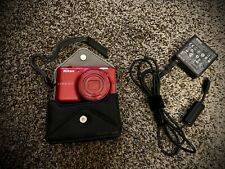 Nikon COOLPIX S6400 16.0MP Digital Camera RED With Charger, Case and SD CARD!