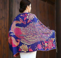 New Floral Pashmina Silk Cashmere Shawl Scarf Stole Wrap Christmas Sale