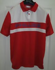 TRUE FAN MLB PHILADELPHIA PHILLIES RED-WHITE-BLUE POLYESTER SHIRT SIZE XL NWOT