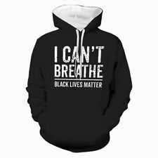 Black Lives Matter Print Hoodie Streetwear Adult Hooded Sweatshirts Pullover