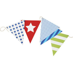 Superstar Blue spot stripe star Card Flag Bunting 10m / 50 pieces Birthday Party