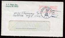 US Advertising Meter Cover (L L Bean, Inc) 1976 Freeport, Maine to Astoria, NY