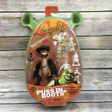 2004 Hasbro Shrek 2 Action Figure Puss in Boots and Ginger Bread Man