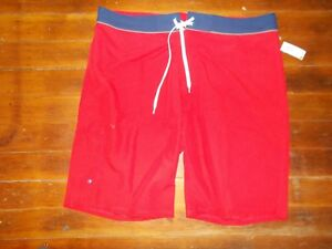 "Old Navy California Board Swim Trunks Shorts 40"" NEW NWT Red Orange No Lining"