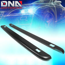 FOR 1988-2000 CHEVY/GMC C/K 8FT BED BLACK TRUCK RAIL COVER CAP MOLDING W/HOLES