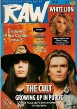 The Cult on RAW Cover 1989  Alice Cooper  Genesis  Stryper Bang Tango Tigertailz