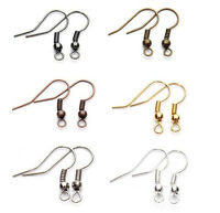 Wholesale DIY JEWELRY Making Findings 100PCS/500PCS Earring Hook Coil Ear Wire