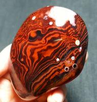 TOP 114.6G Natural Polished Banded Agate Crystal Madagascar Healing WA755