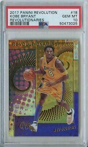 Kobe Bryant 2017 18 Panini Revolution Revolutionies #18 Lakers PSA 10