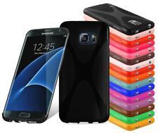 Custodia Cover Silicone per Samsung Galaxy Case Disegno X-Line TPU Bumper Protez