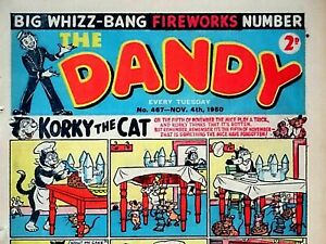 DANDY - FIREWORKS 1950 ISSUE !! 4th NOVEMBER 1950 - RARE & COLLECTABLE !!..beano