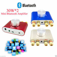 Mini Hifi 30W+30W Stereo Bluetooth Audio Power Amplifier Headphone AMP 12V-24V