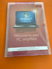 Microsoft Windows 7 Professional 64 Bit Full Open box  with Product Key
