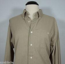CROFT & BARROW Corporate Casuals Men's Beige Button Down Shirt size M