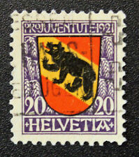 Timbre SUISSE - Stamp SWITZERLAND - Yvert et Tellier n°186 (f) obl (Cyn15)