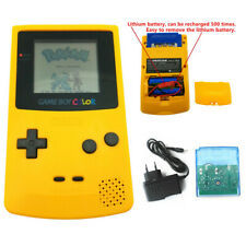 Yellow Rechargeable Nintendo Game Boy Color Console + Game Card + Charger