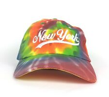 Tie Dye Multicolor Baseball Cap Hat New York Embroidery Adjustable Adult Size