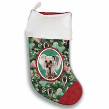 Chinese Crested Christmas Stocking
