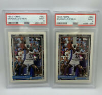 2 Card Lot! 1992 Topps SHAQUILLE O'NEAL #362 Rookie Card Magic PSA 9 Mint Invest