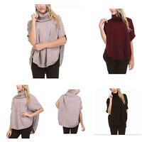 NEW Sisters Women's Cowl Neck Poncho Sweater Top FREE SHIPPING M21