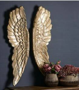 Extra Large Gold Angel Wings Wall Mounted Decorative Hanging Art Gift Home Decor