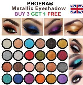 PHOERA Compact Eyeshadow Glitter Shimmer Metallic Pigment Eye Shadow Palette UK