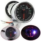 Universal Motorcycle Dual Odometer KMH Speedometer Gauge LED Back light Signal