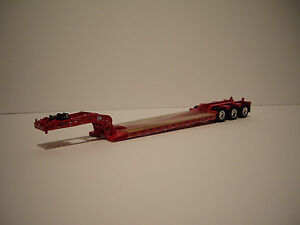 DCP FIRST GEAR 1/64 RED FONTAINE TRIAXLE LOWBOY