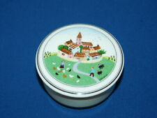 """Villeroy & Boch Design Naif Covered Box Village on the Hill approx. 4"""""""