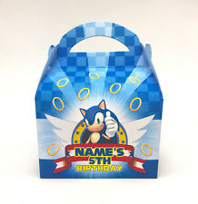 Sonic the Hedgehog Personalised Children Party Boxes Gift Favour 1ST CLASS POST