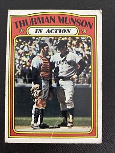 1970s Topps Lot Of 3 Thurman Munson Cards 1973 IA, 1975 & 1977